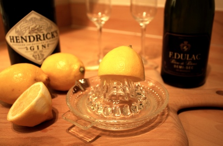 Lemon, gin prosecco 2