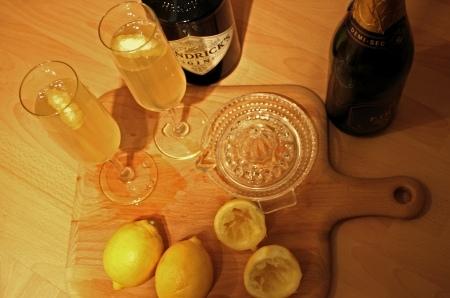 Lemon, gin Prosecco 4